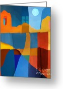 Santa Fe Digital Art Greeting Cards - Abstract # 2 Greeting Card by Elena Nosyreva