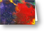 Temperament Photo Greeting Cards - Abstract - Crayon - Andromeda Greeting Card by Mike Savad