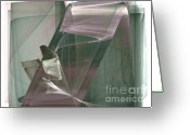 Abstracts Greeting Cards - Abstract - Elegance Greeting Card by Ganesh Barad