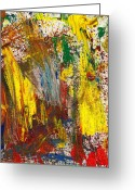Renegade Greeting Cards - Abstract - Guash - Morning Joy Greeting Card by Mike Savad
