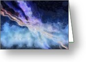 Blues Pastels Greeting Cards - Abstract - Streams Greeting Card by Russ Harris