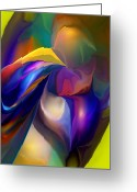 Contemporary Greeting Cards - Abstract 032312 Greeting Card by David Lane