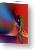 Contemporary Greeting Cards - Abstract 042612A Greeting Card by David Lane