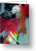 Experimental Mixed Media Greeting Cards - Abstract 055 Greeting Card by Donna Frost