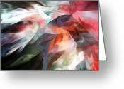 Contemporary Greeting Cards - Abstract 062612 Greeting Card by David Lane