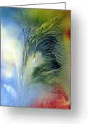 Spirit Rising Greeting Cards - Abstract 1 Greeting Card by Sevan Thometz