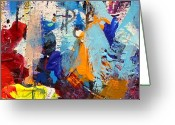 Artist Canvas Painting Greeting Cards - Abstract 10 Greeting Card by John  Nolan