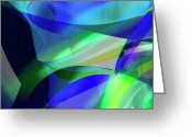 Abstract Greeting Cards Greeting Cards - Abstract 1003 Greeting Card by Gerlinde Keating - Keating Associates Inc