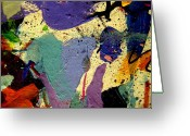 Abstract Expressionism Greeting Cards - Abstract 11 Greeting Card by John  Nolan