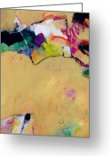 Experimental Mixed Media Greeting Cards - Abstract #116 Greeting Card by Donna Frost
