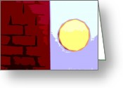 Wall Calendars Greeting Cards - Abstract 161 Greeting Card by Patrick J Murphy