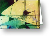 Home Wall Art Greeting Cards - Abstract 209 Greeting Card by Ann Powell