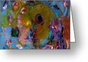 Contemplative Painting Greeting Cards - Abstract 233 Greeting Card by Johnathan Harris
