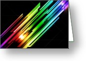 Rainbow Greeting Cards - Abstract 45 Greeting Card by Michael Tompsett