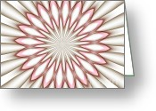 Illusion Illusions Greeting Cards - Abstract 6 Greeting Card by Kristin Kreet