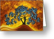 Stroke Greeting Cards - Abstract Art Original Landscape Painting DREAMING IN COLOR by MADARTMADART Greeting Card by Megan Duncanson