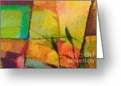 Abstract Art Online Greeting Cards - Abstract Art Primavera Greeting Card by Lutz Baar