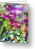 Ginette Fine Art Llc Ginette Callaway Greeting Cards - Abstract Arti 1 By Ginette Greeting Card by Ginette Fine Art LLC Ginette Callaway