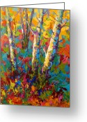 Autumn Painting Greeting Cards - Abstract Autumn II Greeting Card by Marion Rose