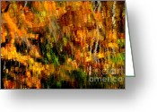 Glade Mill Greeting Cards - Abstract Babcock State Park Greeting Card by Thomas R Fletcher
