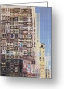 Skyscraper Mixed Media Greeting Cards - Abstract City Too Greeting Card by Russell Pierce
