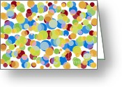 Drawing Greeting Cards - Abstract Color Greeting Card by Frank Tschakert