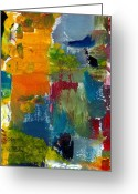 Shade Greeting Cards - Abstract Color Relationships ll Greeting Card by Michelle Calkins