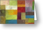 Montage Greeting Cards - Abstract Color Study lV Greeting Card by Michelle Calkins
