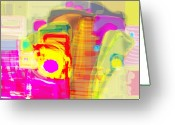 Viola Tricolor Greeting Cards - Abstract Colors Greeting Card by Don  Wright