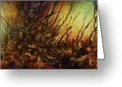 Spontaneous Greeting Cards - Abstract design 103 Greeting Card by Michael Lang