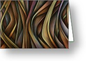 Vertical Painting Greeting Cards - Abstract Design Greeting Card by Michael Lang