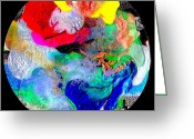 Horizontally Greeting Cards - Abstract - Evolution Series - 1026 Greeting Card by Dina Sierra