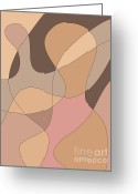 Gordon Greeting Cards - Abstract Figurative Design Greeting Card by Dave Gordon
