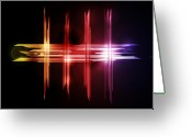 Colorful Digital Art Greeting Cards - Abstract Five Greeting Card by Michael Tompsett