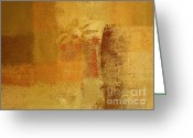 "\""flower Still Life\\\"" Greeting Cards - Abstract Floral - 14v2ct01a Greeting Card by Variance Collections"
