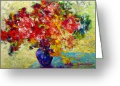 Abstract Painting Greeting Cards - Abstract Floral 1 Greeting Card by Marion Rose