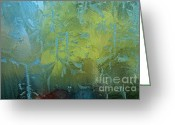 Photo Greeting Cards - Abstract Frost Pattern Greeting Card by Dave Gordon