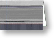 Dwell Greeting Cards - Abstract Grey Greeting Card by Irina  March