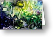 Artist Studio Greeting Cards - Abstract Landscape III Greeting Card by John  Nolan