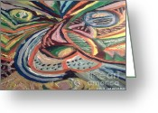 True Colors Greeting Cards - Abstract Leo RAW Greeting Card by Catherine Herbert
