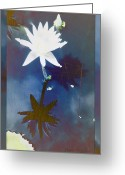 Vision Of Loveliness Greeting Cards - Abstract Lily 2 Greeting Card by Debra     Vatalaro