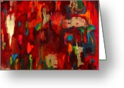 Colette Greeting Cards - Abstract Love Greeting Card by Billie Colson