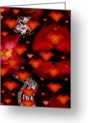 Roses Petals Greeting Cards - Abstract Love Greeting Card by Pepita Selles
