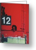 Home Wall Art Greeting Cards - Abstract Number 12 Greeting Card by AdSpice Studios