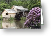 Most Photographed Photo Greeting Cards - Abstract of Mabry Mill in the Summertime Greeting Card by Shannon Slaydon