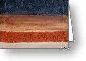 Dk Brown Greeting Cards - Abstract Of Texture Greeting Card by Marsha Heiken