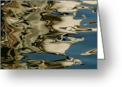 European Union Greeting Cards - Abstract Reflections Formed By Rippling Greeting Card by Todd Gipstein