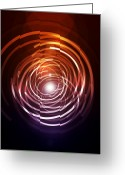 Geometric Digital Art Greeting Cards - Abstract Rings Greeting Card by Michael Tompsett