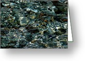 Pelion Greeting Cards - Abstract sea 1 Greeting Card by Arie Arik Chen