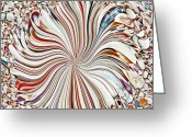 Abalone Seashell Greeting Cards - Abstract Seashells Greeting Card by Aimee L Maher